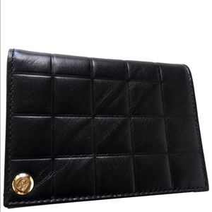 Authentic leather card / photo holder organizer